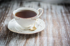 Cup of tea on wooden background Royalty Free Stock Photo