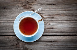 Cup of tea on a wooden background Stock Photography