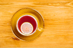 Cup of tea on wooden background Stock Photography