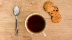 Cup of tea on wooden table Royalty Free Stock Photo