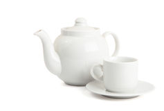 Cup and the teapot Royalty Free Stock Photography