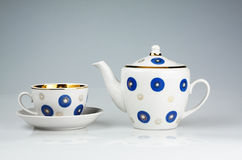 Cup and teapot Royalty Free Stock Image