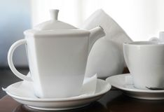 Cup and teapot Royalty Free Stock Photography
