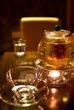Cup teapot Bar. Scented tea at the bar Royalty Free Stock Photos