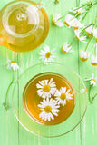 Cup and teapot of herbal tea Stock Photo