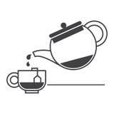 cup teapoten Arkivbilder