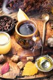 Therapeutic tea with ginger Stock Photos