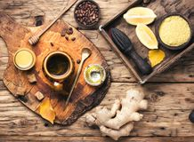 Therapeutic tea with ginger Stock Photography