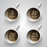Cup with a time of minutes break Stock Images