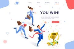 Cup Top Prize Challenge Concept. Cup challenge reward, top prize goal on a financial competition. Infographic, winner growth and celebration. Hero images, web royalty free illustration
