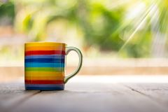 Cup, Top, View, Coffee, Table Royalty Free Stock Image