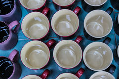 Cup top view Stock Photography