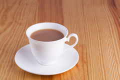 Cup of traditional English Tea in white china cup Royalty Free Stock Images