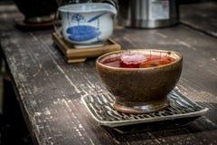 A cup of Traditional Korean Ginseng Tea. Tea ceremony in South Korea. Traditional Korean Ginseng Tea Stock Photos