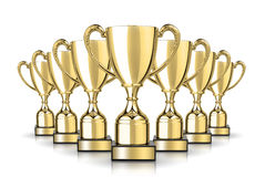 Cup trophies Royalty Free Stock Photos