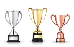 Cup trophies Royalty Free Stock Photo