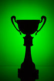 Cup trophy silhouette Royalty Free Stock Images