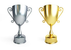 Cup trophy silve Royalty Free Stock Photos