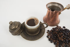 Cup of Turkish coffee Stock Images