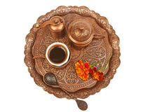 A cup of Turkish coffee Stock Photos