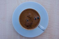 A cup of Turkish coffee in Istanbul, Turkey. royalty free stock photography