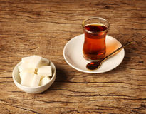 Cup of Turkish tea Royalty Free Stock Image