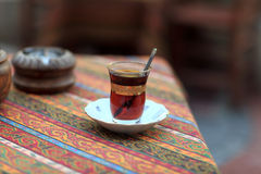 Cup of turkish tea Stock Photography