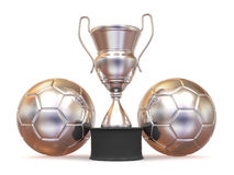 Cup with two ball Stock Images