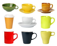 Cup- und Becheransammlung Stockfoto