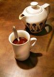 Cup-und Kaffee-Potenziometer Stockfotos