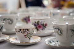 Cup und Saucers stockfotografie