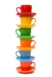 Cup und Saucers stockfoto