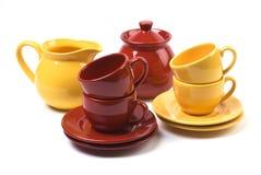 Cup und Saucers Lizenzfreies Stockbild