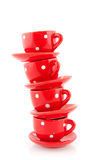 Cup und Saucers Stockfoto