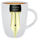 Cup for us Advertising Copywriter Royalty Free Stock Image