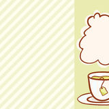 Cup Vector hand drawn background. Cup of tea. Vector hand drawn background Stock Photos