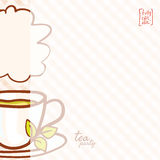 Cup Vector hand drawn background. Cup of tea. Vector hand drawn background Stock Images