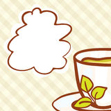 Cup Vector hand drawn background Stock Photo