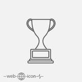 Cup vector icon Royalty Free Stock Photos