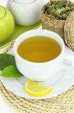 Cup of verbena Stock Photos