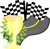 Cup for a victory in the race Stock Image
