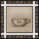 Cup with vintage design butterfly retro background Royalty Free Stock Photo