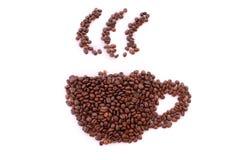 Cup von den Kaffeebohnen Lizenzfreies Stockfoto
