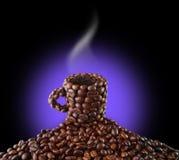 Cup von den Kaffeebohnen Stockfotografie