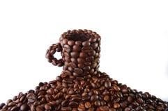 Cup von den Kaffeebohnen Lizenzfreie Stockfotografie