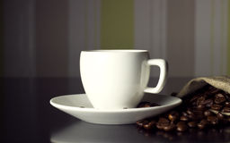 Cup and wall Royalty Free Stock Photos
