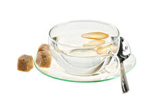 Cup of water with ginger Stock Images
