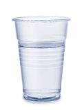 Cup of water. Plastic cup of water isolated on white Royalty Free Stock Photography