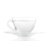 Cup of Water. On white background include clipping path Stock Images
