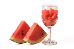 Cup of watermelon Stock Photo
